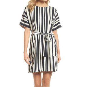 Felicity & Coco Sterling Stripe Woven  Dress L